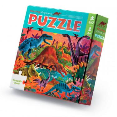 "Puzzle métallisé ""Dinosaures"" 60 pcs CROCODILE CREEK"