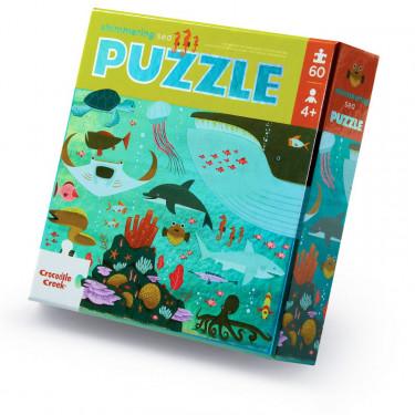 """Puzzle métallisé """"Animaux marins"""" 60 pcs CROCODILE CREEK"""