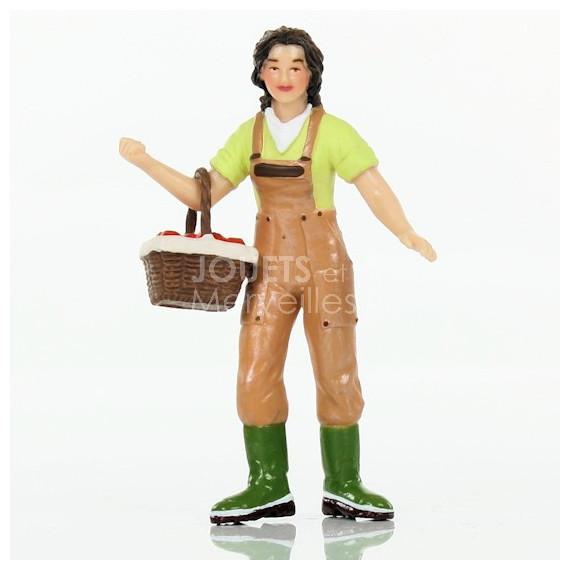 Fermière au panier, figurine PAPO 39219