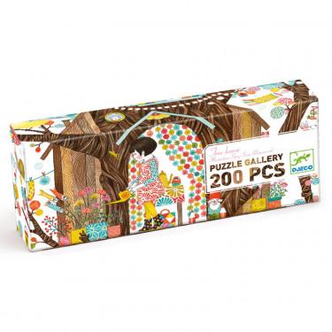 """Puzzle Gallery 200 pcs """"Tree house"""" DJECO 7641"""