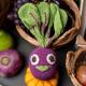 """Hochet betterave en crochet """"The veggy toys"""", coton bio"""