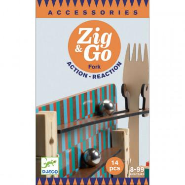 """ZIG & GO accessoire """"fourchette"""" - 14 pièces DJECO 5646"""