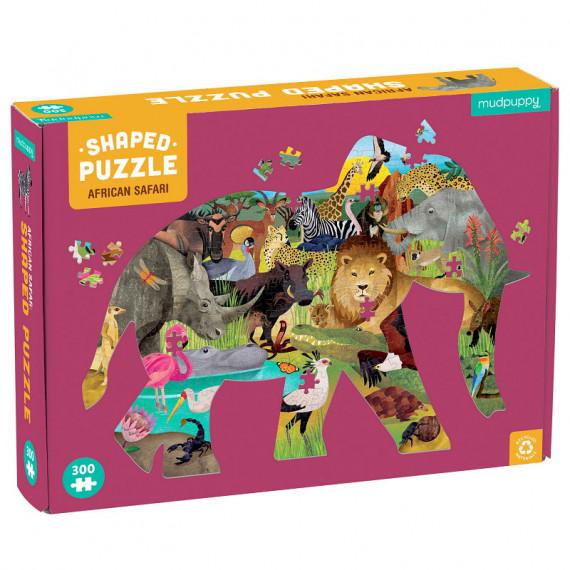 Puzzle silhouette 300 pcs 'Safari africain' Mudpuppy