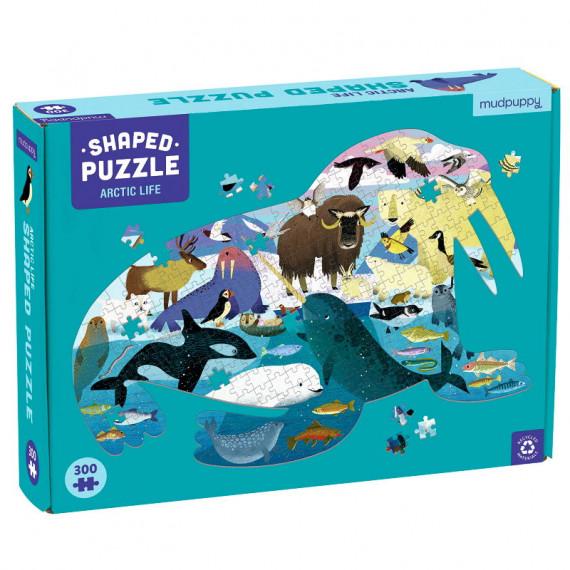 Puzzle silhouette 300 pcs 'Vie dans l'Arctique' Mudpuppy