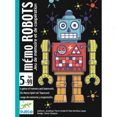 mémo ROBOTS jeu de cartes DJECO 5097