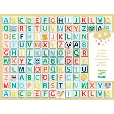 "Gommettes en volume ""Alphabet"" DJECO 9078"