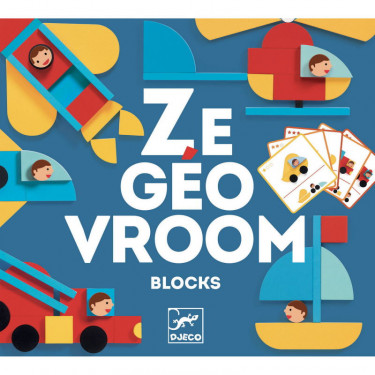 Ze Geovroom, blocs en bois DJECO 6436