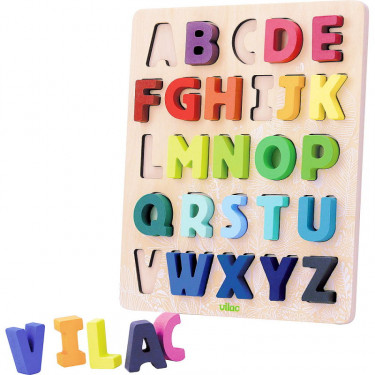 """Puzzle ABC """"Sous la canopée"""" Alphabet à encastrer VILAC 2738"""