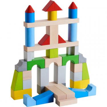 Blocs de construction multicolores en bois HABA 305162-grande boîte