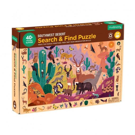 Puzzle 'Cherche & Trouve' Animaux du desert 64 pcs Mudpuppy