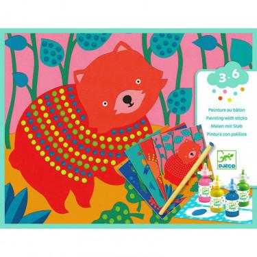 Peinture au bâton 'Pointillisme' DJECO 9689