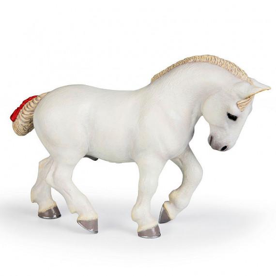 Cheval percheron blanc PAPO 51567