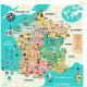Puzzle carte de France 300 pcs Ingela P. Arrhenius VILAC 7618
