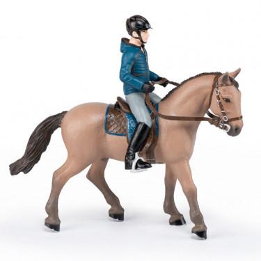 Cheval de promenade et son cavalier, figurine PAPO 51565