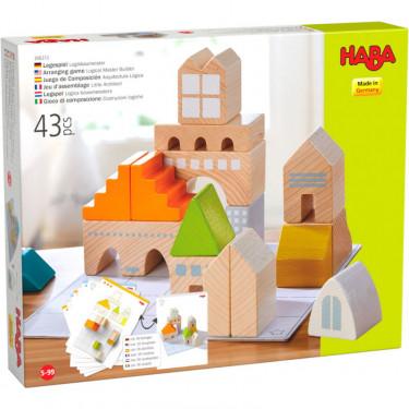 """Jeu d'assemblage en bois """"Petit architecte"""" HABA 306313"""