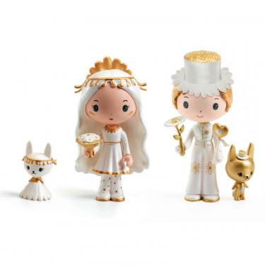 "Marguerite & Léopold ""les mariés"" figurines tinyly Djeco 6959"