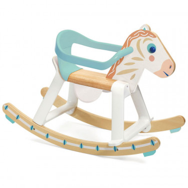 """""""BabyCavali"""" Cheval à bascule en bois avec arceau amovible DJECO 6132"""