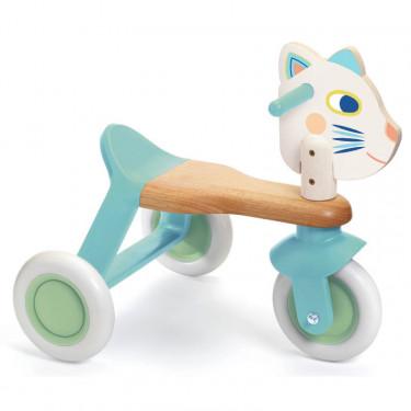 """""""BabyScooti"""" Porteur tricycle en bois pour enfant DJECO 6133"""