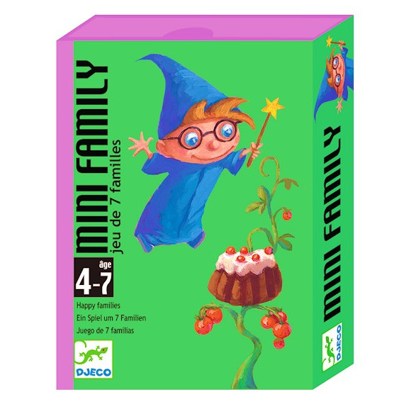 Mini Family jeu des 7 familles, jeu de cartes DJECO DJO5101