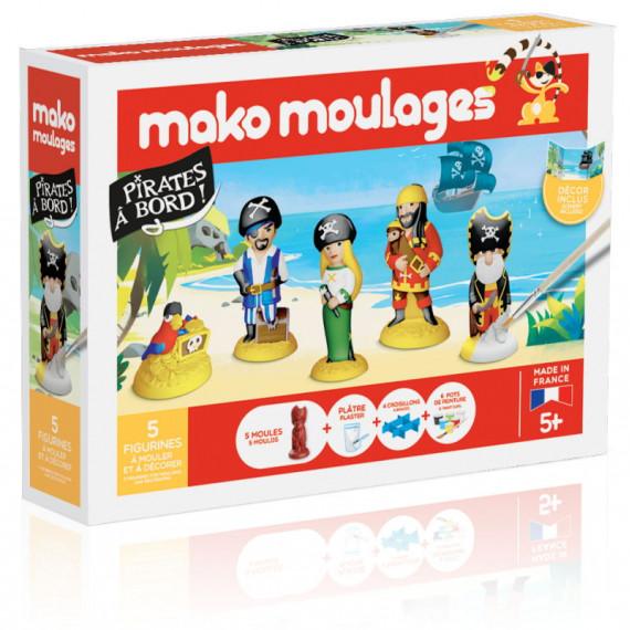 """Mako Moulages """"Pirates à bord !"""" coffret 5 moules 39067"""