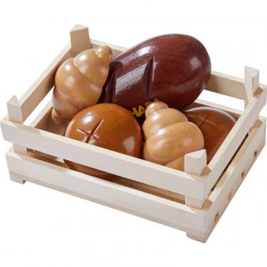 Cagette avec viennoiseries, jouet dînette en bois HABA 306457
