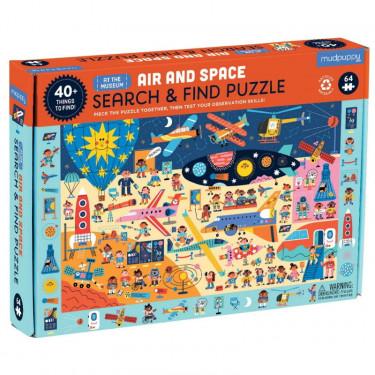 Puzzle 'Cherche & Trouve' Musée de l'air et de l'espace 64 pcs Mudpuppy