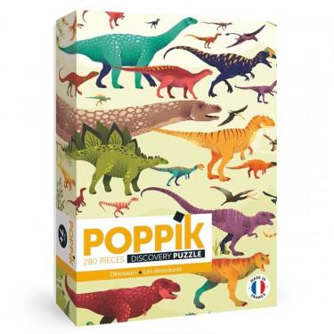 """Puzzle 280 pièces """"Dinosaures"""" POPPIK"""