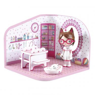 tinyshop de Milou, maison pour figurine tinyly de Djeco 6956