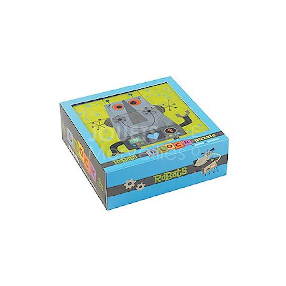 Puzzle cubes 'ROBOTS', cubes enfants MUDPUPPY 352702