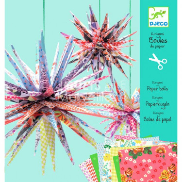 Kirigami Boules de papier, loisir créatif DJECO DJO 8765