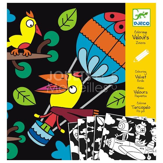 Coloriage velours Zoizos, loisir créatif DJECO DJO 9621