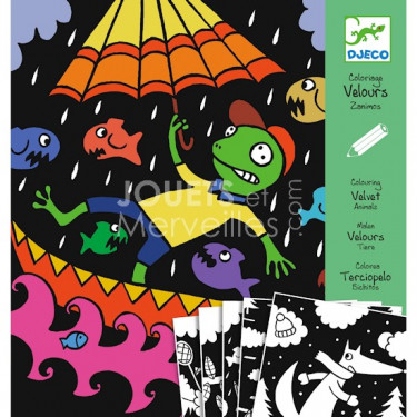 Coloriage velours Zanimos, loisir créatif DJECO DJO 9620