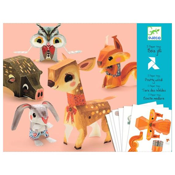 Paper Toys Bois Joli DJECO 9674