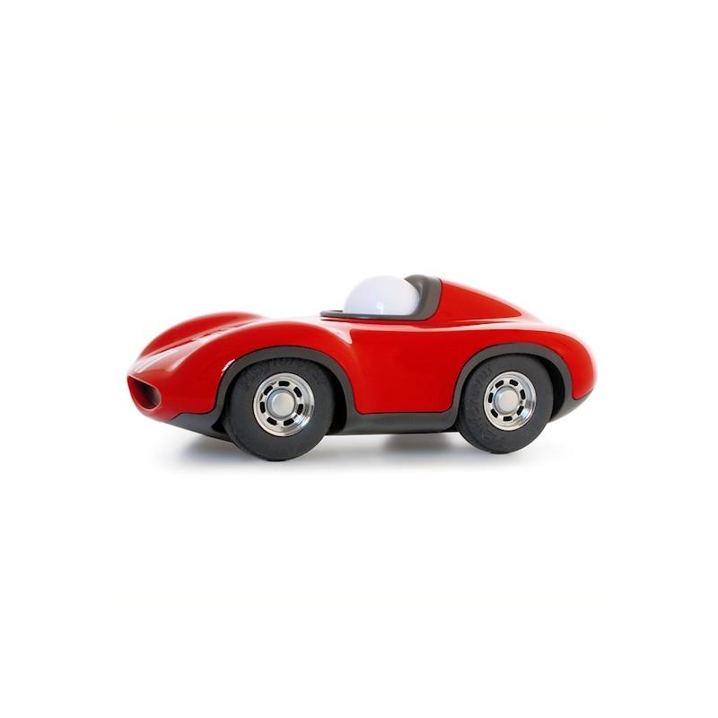 voiture de course playforever bleu m tal quel design jouets et merveilles. Black Bedroom Furniture Sets. Home Design Ideas