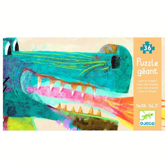 Léon le dragon, puzzle géant 58 pcs DJECO 7170