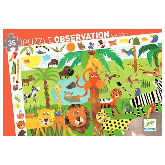 La jungle, puzzle 35 pcs DJECO 7590