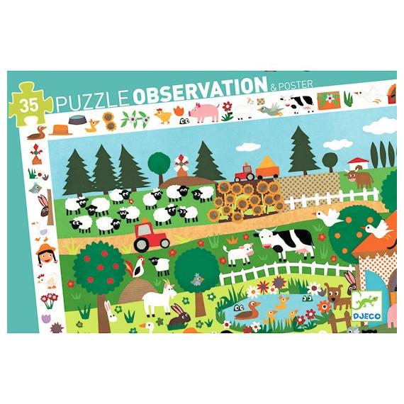 La ferme, puzzle 35 pcs DJECO 7591