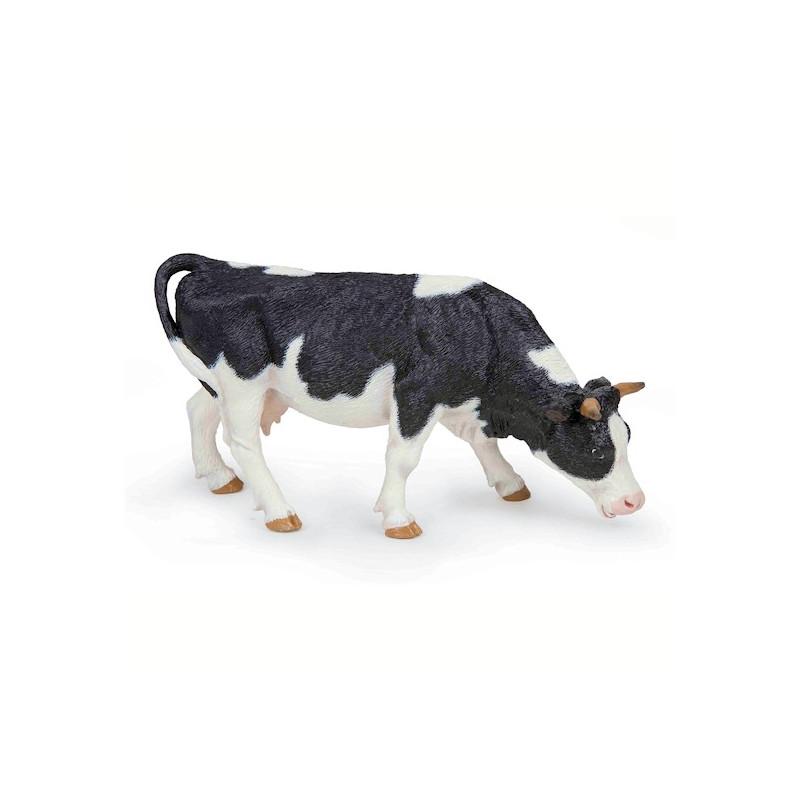 figurine vache noire et blanche broutant papo 51150. Black Bedroom Furniture Sets. Home Design Ideas