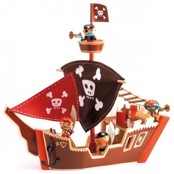 bateau pirate arty toys djeco 6830 jouets et merveilles. Black Bedroom Furniture Sets. Home Design Ideas