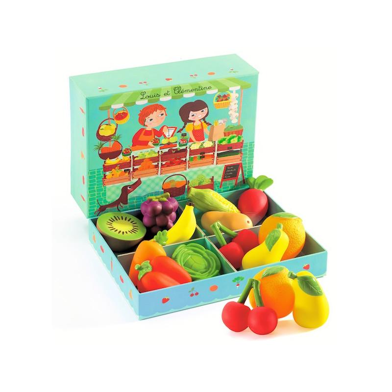 louis et cl mentine fruits et l gumes djeco 6621 jouet. Black Bedroom Furniture Sets. Home Design Ideas