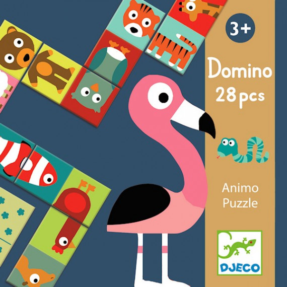 Domino Puzzle Animaux, DJECO 8165