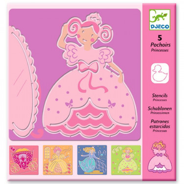 Pochoirs Princesses, DJECO 8817