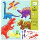 Petits pantins à colorier Dino DJECO 9680