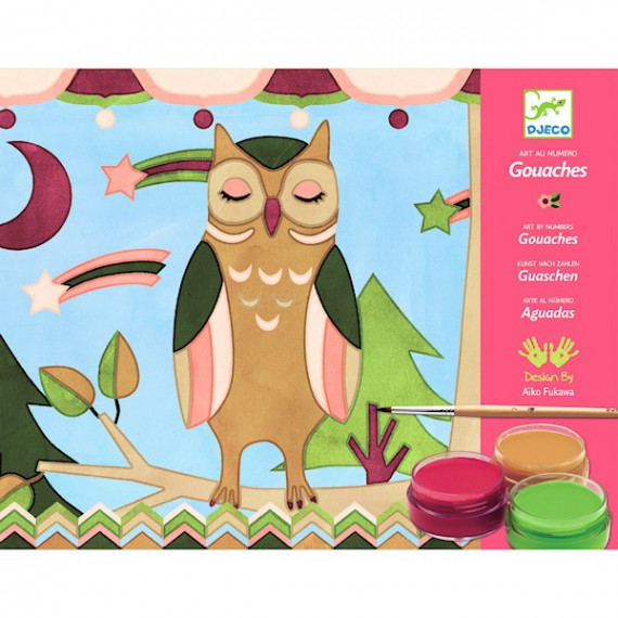 Coffret Gouaches les animaux d'Aiko, Art au numéro DJECO DJO8657