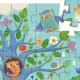 Coucou hibou, puzzle silhouette 24 pcs DJECO 7215