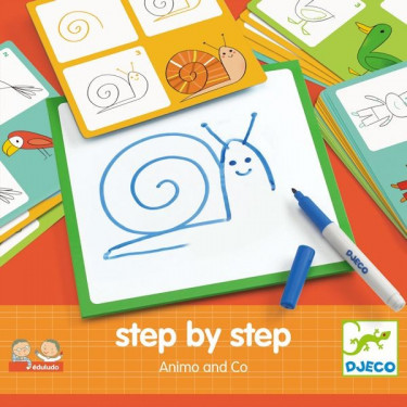 "STEP by STEP ""Animo & Co"", construire une image DJECO 8319"