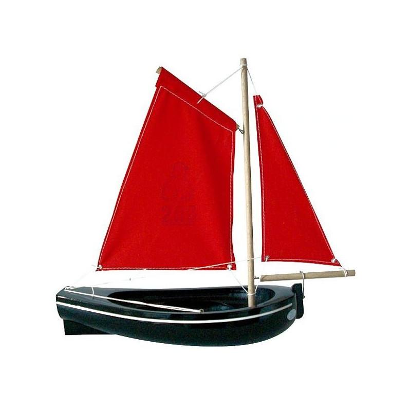 grand thonier en bois 30 cm bateau jouet navigable tirot 206. Black Bedroom Furniture Sets. Home Design Ideas