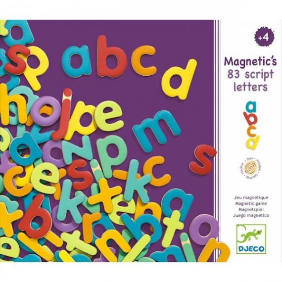 Lettres minuscules magnétiques en bois DJECO 3102