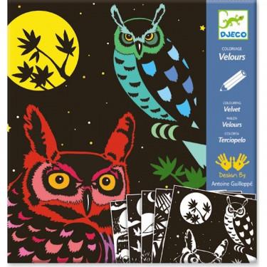 """Coloriage velours """"La Forêt"""", DJECO 9623"""