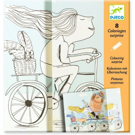 "Coloriages surprises ""Mademoiselle Plus"" DJECO 9635"